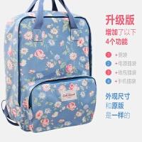 新款韩版学院风碎花小清新印花帆布双肩包女学生书包旅行电脑背包