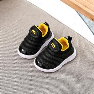 宝宝鞋男潮1-3岁防滑软底女小童婴儿鞋 6-12个月春秋毛毛虫学步鞋
