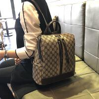 真皮背包2019新款多功能大容量旅行书包女士百搭双肩包潮