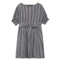 【5.16-5.17日抢购价:55】美特斯邦威女都绑带复古风连衣裙