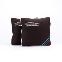 宝马抱枕被 汽车多功能折叠车载抱枕被两用靠枕垫空调被子