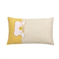 可爱儿童枕芯30x50学生40x60小枕头单个带枕套可拆卸 乖乖熊粉 40*60cm