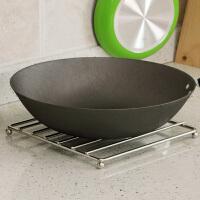 不锈钢隔热垫 餐垫 锅垫 餐桌垫创意厨房用品大号防烫垫 24*24*2.2HCM不锈钢方形款(单只装)