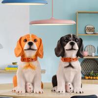 生肖狗摆件创意家居摆设客厅室内电视柜装饰品 新年礼物实用礼品创意家居装饰摆件 可爱狗狗一对