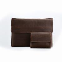 苹果笔记本电脑包新macbook pro内胆包Air13.3真皮12保护套女 褐色-Air 系列