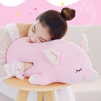 猪公仔毛绒玩具女生抱枕睡觉玩偶少女心布娃娃暖手捂插手可萌
