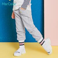 【2件2.5折价:40】巴拉巴拉旗下马卡乐男童针织牛仔裤儿童百搭休闲长裤秋装