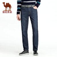 camel 骆驼男装 年春季新款直筒水洗薄款牛仔裤男中腰商务休闲长裤
