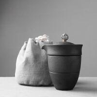 旅行办公茶具茶壶 快客杯一壶二杯整套陶瓷功夫茶杯套装便携