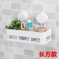 创意吸盘浴室置物架卫生间壁挂角架洗手间化妆品三角架卫浴收纳架 白色 (送2片魔力贴)