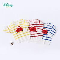 【2件3折到手价:55.5】迪士尼Disney童装 宝宝毛衣秋冬新款迪斯尼闪电麦昆肩开扣长袖男童卫衣针织衫183S10