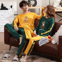秋季情侣睡衣长袖韩版卡通清新可爱学生可外穿男女套装家居服