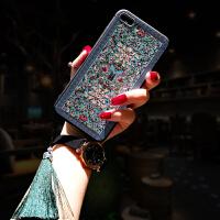 中国风苹果xs max手机壳女款浮雕荷花流苏iphonex潮牌8plus硅胶软壳8全包个性6p超薄创 /s 4.7寸