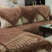 奢华皮沙发垫坐垫布艺毛绒冬季冬天华士加厚防滑简约套