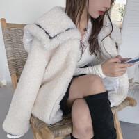 羊羔毛外套女短款2020冬季新皮草毛�q大衣加厚ins�L�W生甜美��松