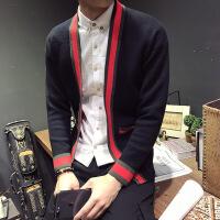 新款毛衣男韩版潮流修身外套冬季针织开衫男网红快手社会精神小伙