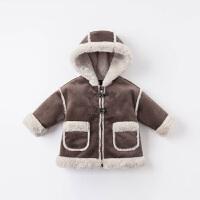 戴维贝拉童装男童外套冬季装儿童保暖上衣 宝宝加绒衣服洋气