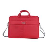 展业包保险女士多功能中国人寿定制logo笔记本电脑包男女单肩手提 红色 支持来样订制logo 15.6英寸
