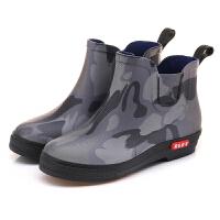 夏季男士雨鞋时尚平底水鞋男雨靴低帮防滑厨房工作鞋短筒水靴