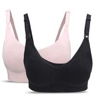 哺乐多Bravado哺乳文胸 孕期孕妇内衣 前开扣舒适无钢圈胸罩2件装