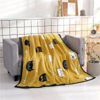 珊瑚绒毛毯被子加厚冬季小毯子单人法兰绒床单休闲午睡盖毯男女用