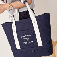 出差旅行袋大容量手提包妈咪包帆布包斜跨单肩包拉杆包行李袋女 大