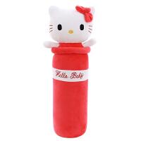 史迪仔公仔毛绒玩具长条睡觉圆柱抱枕儿童生日礼物女 深灰色 红色凯蒂猫