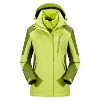 户外冲锋衣女三合一两件套加厚防水透气登山服男外套冬季加绒保暖