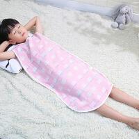 婴儿夏天睡袋 儿童睡袋大童防踢被纱布棉宝宝婴儿春夏天夏季款无袖背心式A