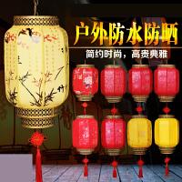 新户外防水仿羊皮灯笼室外装饰红灯笼 中式阳台吊灯l7v
