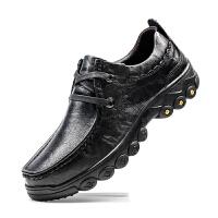 中年休闲皮鞋男软面皮软底中老年真皮防滑爸爸鞋大号牛皮男鞋棉鞋 38-47