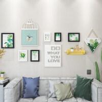 创意简约现代个性客厅照片墙装饰相框悬挂墙钟表组合相片墙无痕钉