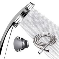 花洒喷头淋浴不锈钢手持莲蓬头通用高压单头加压增压花伞套。