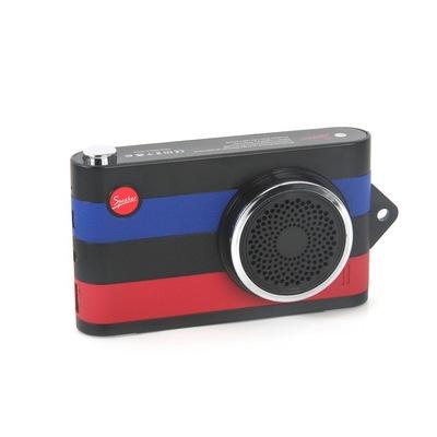 蓝牙音箱 新款相机 私模多功能音箱移动电源充电宝插卡蓝牙音响 蓝牙播放,来电通话