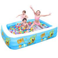 婴幼儿童充气游泳池家用宝宝超大号戏水海洋球玩具池浴缸 抖音