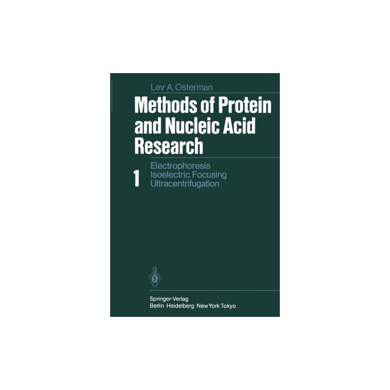 【预订】Methods of Protein and Nucleic Acid Research: Volume 1: Ele... 9783642874871 美国库房发货,通常付款后3-5周到货!