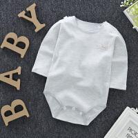 秋季彩棉宝宝长袖婴儿连体衣服包屁衣爬服三角哈衣新生儿棉衣服