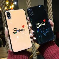 蓝光情侣iphone8苹果x手机壳7p日韩爱心6防摔6s硅胶全包7plus女款