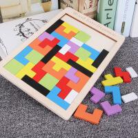 【秒杀】儿童早教俄罗斯方块积木拼图木质彩色立体2-4岁-6岁宝宝益智力开发男孩女孩玩具