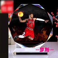 新款水晶相框 篮球星詹姆斯科比罗斯艾佛森库里球迷手办用品生日礼物送男生