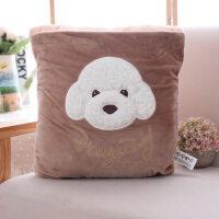 卡通抱枕毛毯两用可折叠动物汽车靠垫空调被办公室少女生日礼物送 毛毯1.6米*1.2米