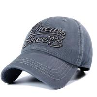 户外帽子鸭舌帽纯棉字母刺绣棒球帽情侣太阳帽男休闲出游旅行