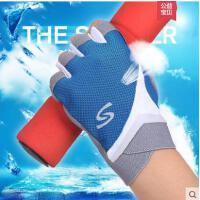手套男女士防滑健身半指夏薄款户外开车骑行运动防晒登山手套