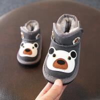 宝宝棉鞋卡通冬款软底防滑雪地靴 0-1-2岁男童女童学步鞋短靴
