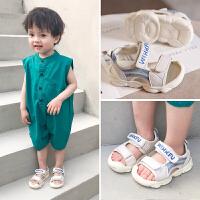 宝宝鞋子1-3岁夏季儿童包头凉鞋婴儿鞋0-2男女童小童软底学步鞋一