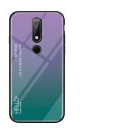 诺基亚X6手机壳渐变玻璃防摔Nokia x7保护套诺基亚7plus创意男女
