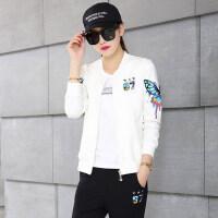 时尚印花修身休闲套装女运动服套装女韩版卫衣三件套