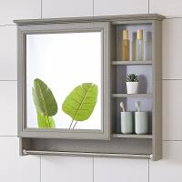 浴室镜柜挂墙式洗手间镜箱厕所卫生间镜子带置物架梳妆收纳洗漱镜