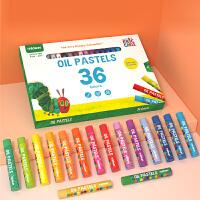 弥鹿(mideer)好饿的毛毛虫系列丝滑油画棒易上色蜡笔儿童绘画画画工具幼儿美术用笔24色36色