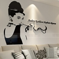 3d亚克力立体墙贴卧室客厅墙面装饰品贴画贴纸怀旧 超